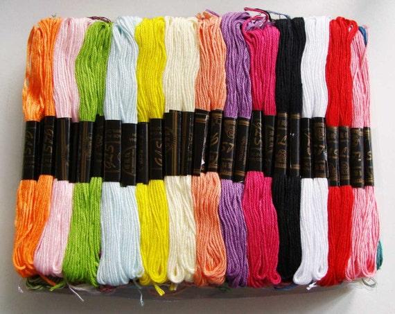 100 échevettes fil mix couleurs création tressage bracelet brésilien amitié