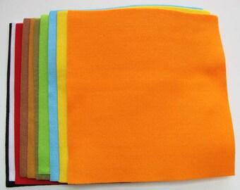 10 Plaques Feutrine 28x28cm Feuilles 2mm environ mix couleurs Feutre DIY loisirs créatifs