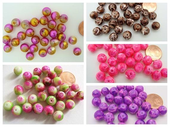 collier Lot 20 Perle Cube 8mm Perle a facette couleur au choix creation bijoux