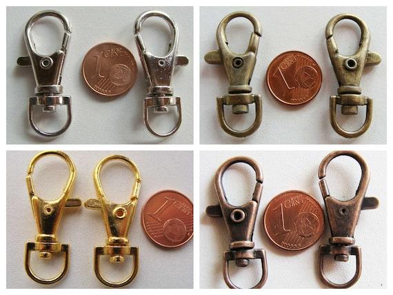 10 ANNEAUX BRISES PORTE-CLE simple ondulé métal DORE 25mm Loisirs créatifs