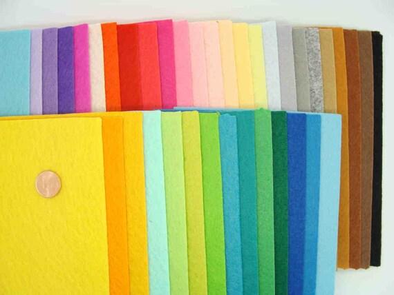 40 feuilles FEUTRINE 1mm plaque mix 40 couleurs 15x10cm DIY loisirs créatifs