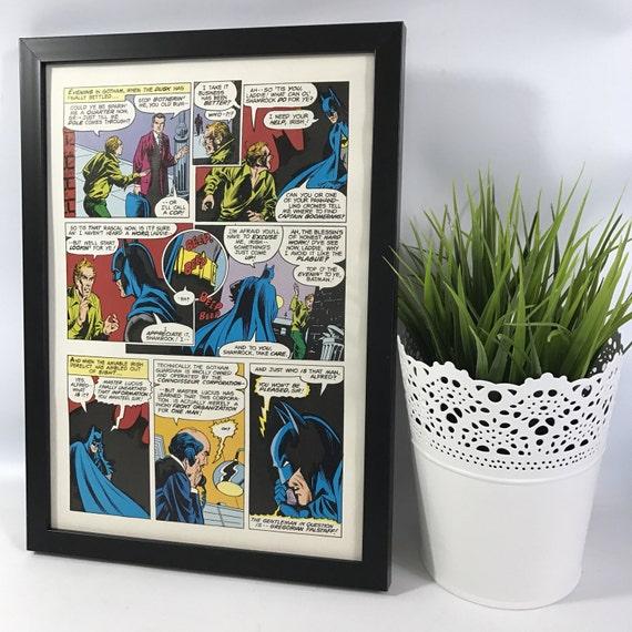 Frame 1980/'s Magazine Art Wall Decor Gaming Bedroom Grooms Gift For Him Gamer Son Dad Husband Joker Man Cave Comic Retro Vintage Batman
