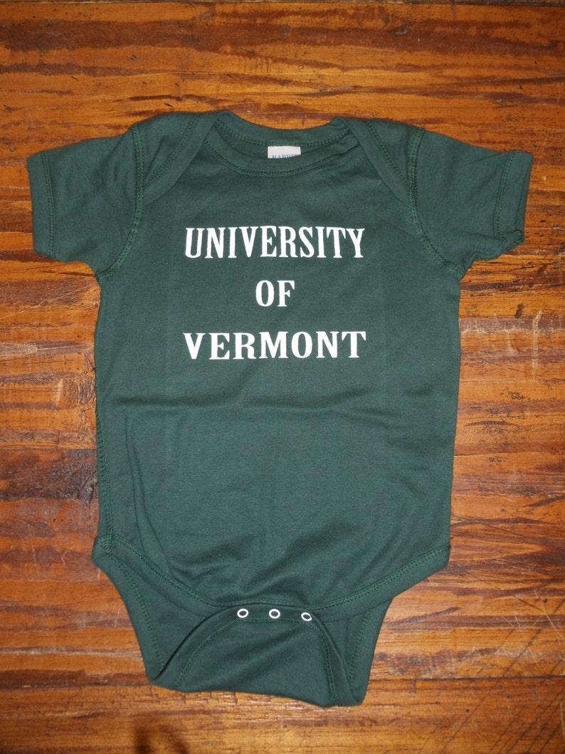 vermont kids clothes vermont clothes UVM kid clothes Toddler clothing University of Vermont Onesies w UVM Paw on back VT Bodysuit