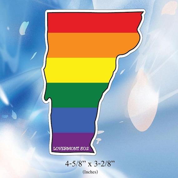 Vermont VT State Outline Vinyl Decal Sticker