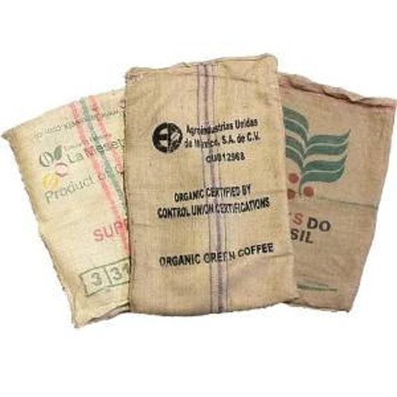 hot-seeling original best sneakers selected material Lot of 10 (TEN) Used Coffee Bean Burlap Bags - Burlap Coffee Bags - Sack  Races - Arts & Crafts - Garden / Plant Cover - Organic Recycling