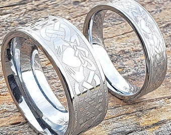Knot Ring Infinity Knot Ring His and Her Promise Ring Eternity Ring Infinity Ring Mens Tungsten Ring Knot Band Tungsten Wedding Bands