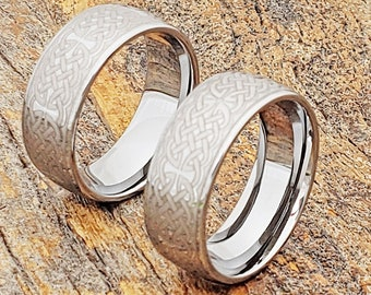 mens celtic wedding bands tungsten