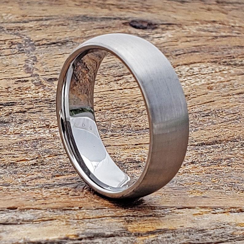 Couples Wedding Band Tungsten Wedding Band Matte Tungsten Ring Mens Tungsten Engagement Ring Brushed Tungsten Ring Engagement Band