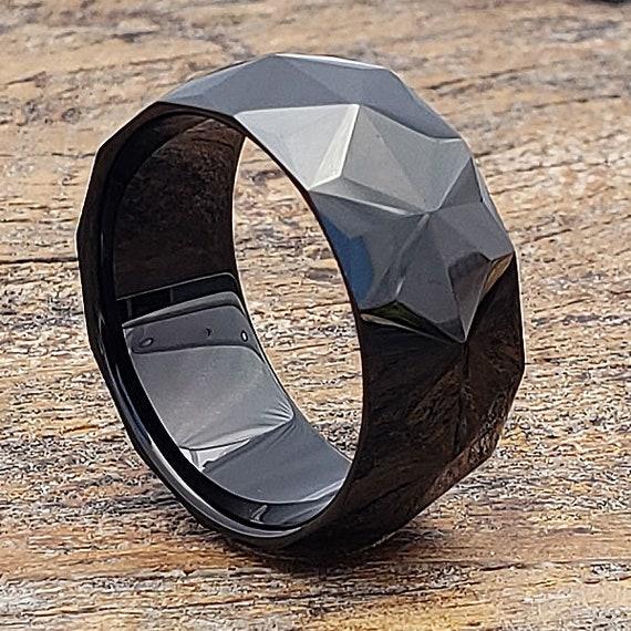 dd2802e200ae Tungsten Ring Men s Tungsten Wedding Band Black Wedding