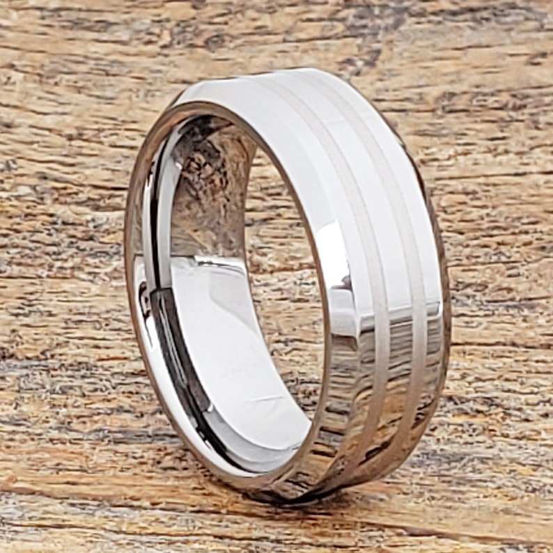 Engraved Tungsten Ring Wedding Band Tungsten Band Personalized Gifts for Men Couples Ring Custom Anniversary Gift Male Engagement Ring