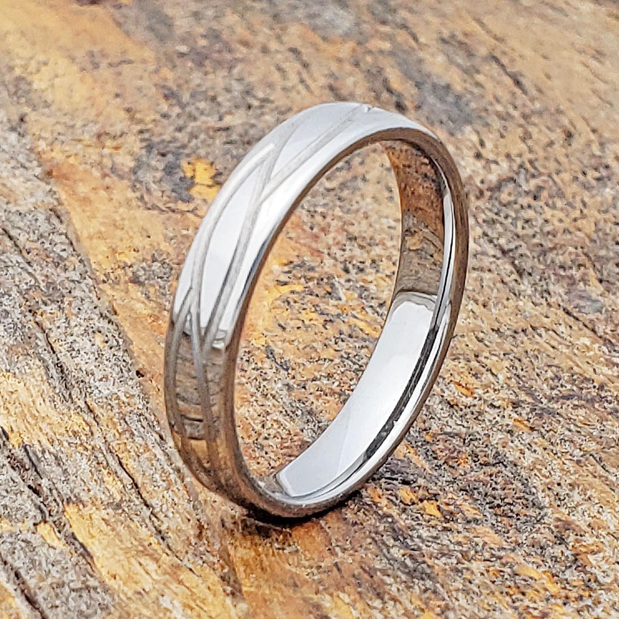 Womens Wedding Ring Matte Wedding Ring Womens Tungsten Ring image 0