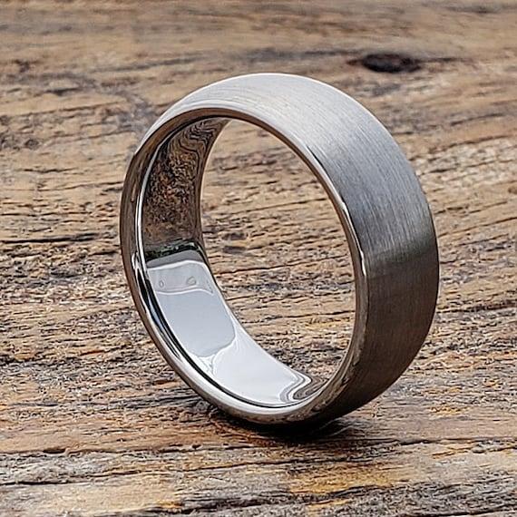 Mens Wedding Band Brushed Ring Men Matte Wedding Ring Etsy
