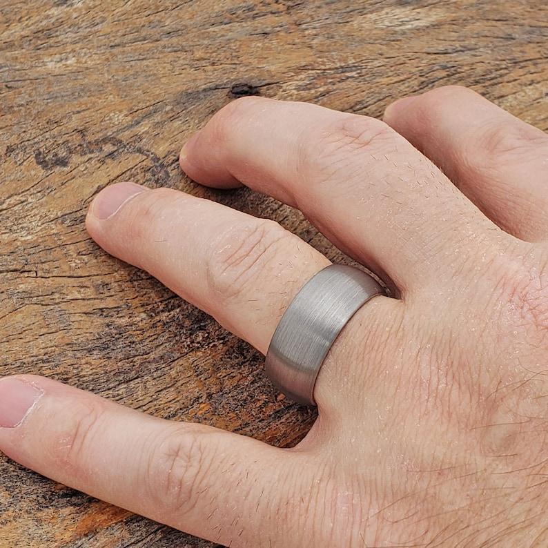 Anniversary Ring Tungsten Wedding Rings for Men Matte Mens Ring Brushed Ring Mens Wedding Band Tungsten Ring Gift Silver Wedding Band