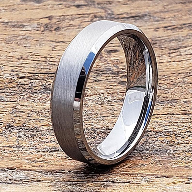 Tungsten Wedding Band Engagement Gift Matte Wedding Band Engagement Band Promise Ring Brushed Mens Wedding Band Tungsten Carbide Ring