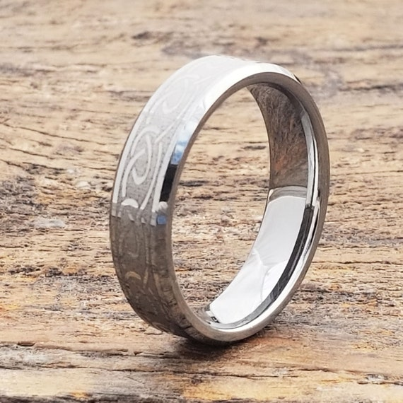 Irish Wedding Rings.Irish Wedding Bands Celtic Wedding Ring Celtic Wedding Band Tungsten Celtic Ring Silver Wedding Rings 6mm Engagement Ring Womens Band