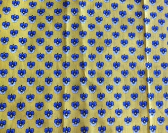 fabric pattern designed on a yellow background