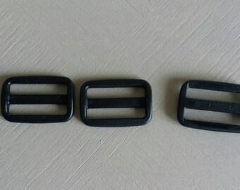 Black plastic double loop
