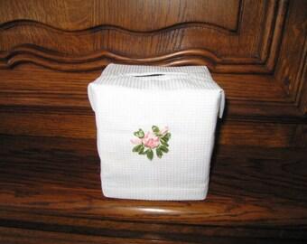 box cover has square handkerchief