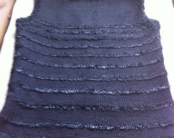 women's hand knitted sleeveless sweater