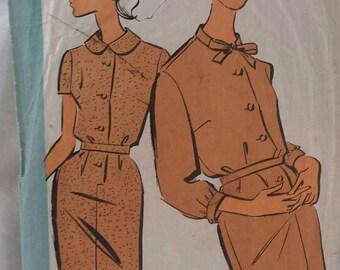 pattern shift dress belted vintage echo fashion