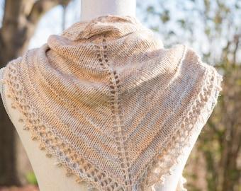 Pashmina Shawlette Knitting Pattern