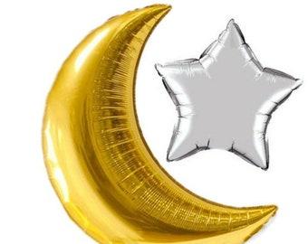 Eid Decoration,Crescent Balloon, Eid Party, Star Balloon, Ramadan Gift, Iftar Party, Ramadan Mubarak, Ramadan Kareem, Ramdan Decor