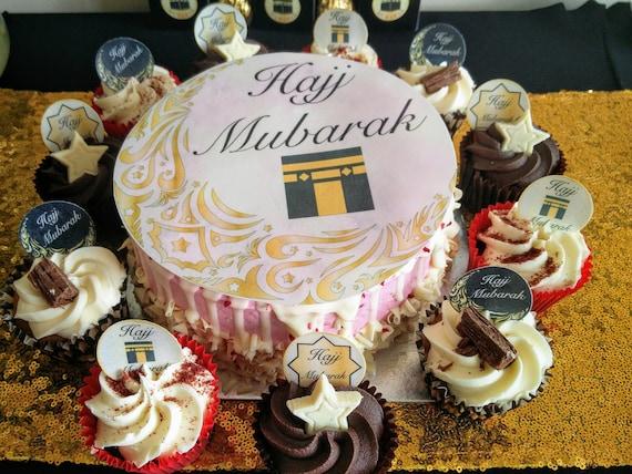 Umrah Banner: Hajj Mubarak Cake Toppers Hajj Cake Hajj Cupcake Toppers