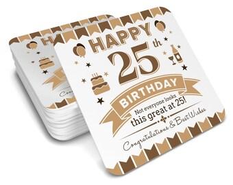 50th  Birthday Happy Gift Present Idea Women Female Keepsake Lady Coffee Coaster