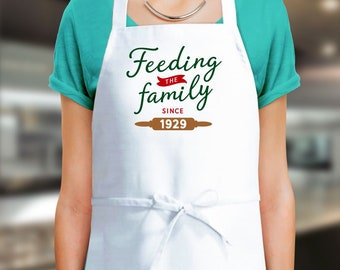 90th Birthday 1929 Gift Custom Apron Cooking Present 90 Years Old