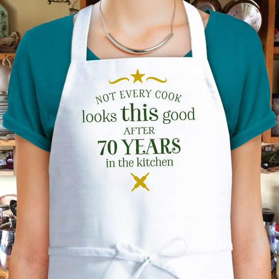 70th Birthday Cooking Gift Custom Apron