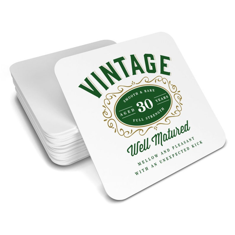 30th Birthday Gift Idea Drinks Coaster Vintage 1988 Womens