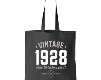 90th Birthday, 90th Birthday Idea, 90th Birthday Bag, Tote, Shopping Bag, Great 90th Birthday Present, 90th Birthday Gift 1928 Birthday