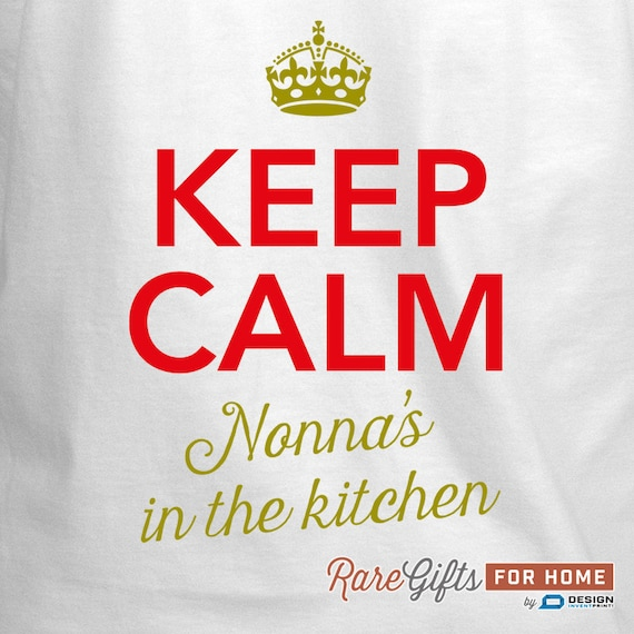 Nonna Apron Cooking Apron For Women Nonna/'s Kitchen Magic Nonna Cooking Gift Personalized Nonna Gift Keep Calm Birthday Gift For Nonna!
