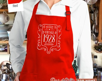 90th Birthday, 1928 Birthday, Full Length Apron, 90th Birthday Idea, 90th Birthday Present, 90th Birthday Gift,  For The Lucky 90 Year Old!