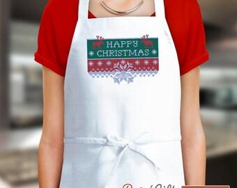 Ugly Christmas Apron, Xmas Apron, Christmas Gift, Aprons For Women, Funny Apron, Cooking Gift, Womens Aprons, Apron Men, Apron Custom