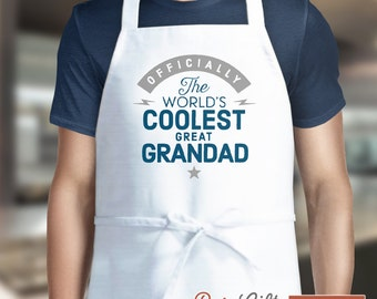 Great Granddad Gift, Birthday Gift For Great Granddad! Funny Apron, Coolest Great Granddad, Cooking Gift, Awesome Great Granddad