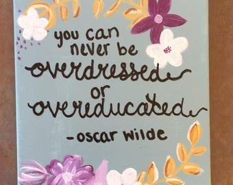 Oscar Wilde Canvas Painting