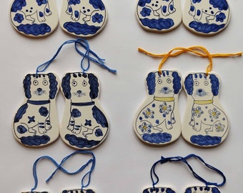 Staffordshire dogs ceramic decorations