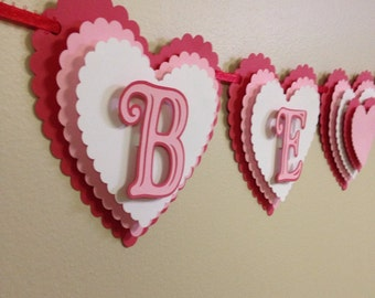 Valentines day banner, Banners, Heart banners, Valentines day, Valentine banner, Be mine banner, Valentine decorations, Be my valentine