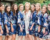 60 off CLEARANCE SALE Silk Bridesmaid Robes, Bridesmaid Gift, Satin Bridesmaids Robes, Kimono, Floral Bridesmaid Robe, Bridesmaid Proposal