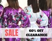 60 OFF Clearance SALE Bridesmaid Robes, Bridesmaid Gift, Satin Bridesmaids Robes, Floral Bridesmaid Robe, Kimono, Silk Bridesmaids Robes