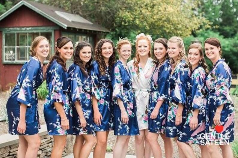 Bridesmaid Robes Bridesmaid Gift Satin Bridesmaids Robe image 0