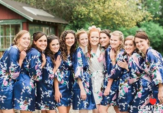 Bridesmaid Robes Bridesmaid Gift Satin Robes Wedding | Etsy
