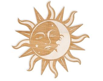 sun and moon art etsy