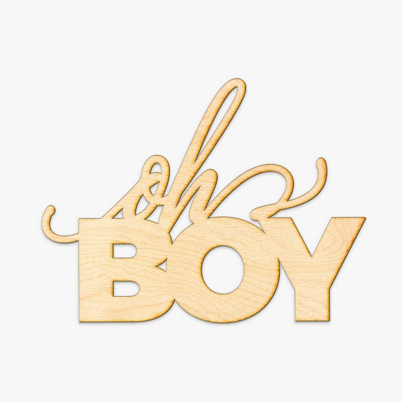 Oh Boy Wood Sign Wood Sign Art Wooden Sign Laser Cut Wood Wood Decor Nursery Decor Baby Shower Wood Sign Baby Boy Shower Decor