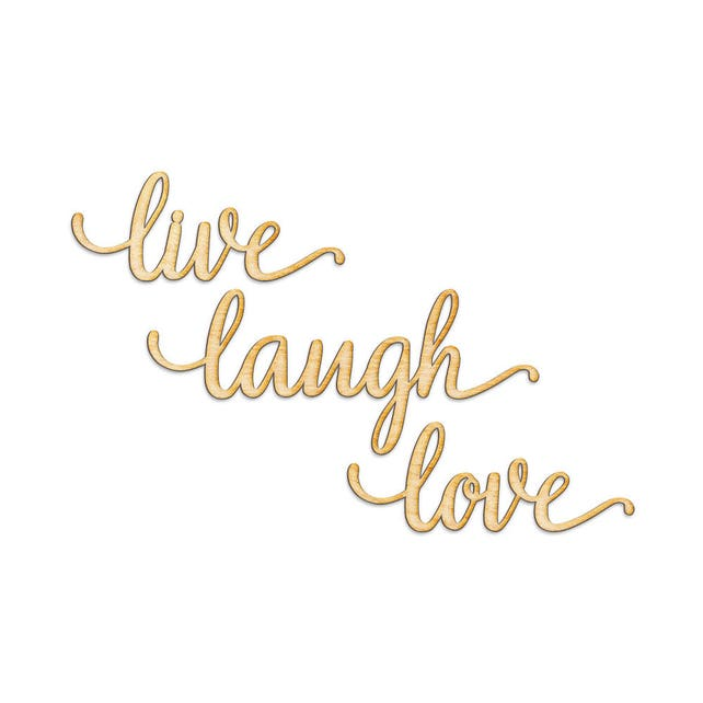Live Laugh Love Wood Cut Laser Sign Wall