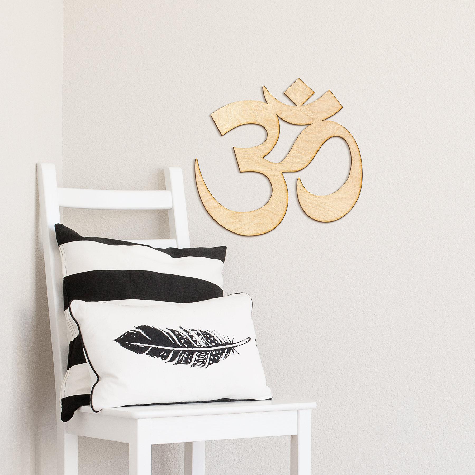 Targhe in legno simbolo om laser taglio segno segno di etsy for Targhe decorative in legno