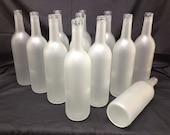 Frosted Bottles, 750 ml. Great For Home Brew ,Wine, Beer , BottleTree , Weddings, Parties , Frosted White, Centerpieces , Crafting ,