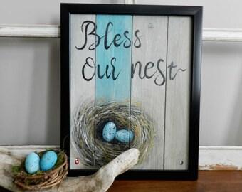 Nest schilderij etsy