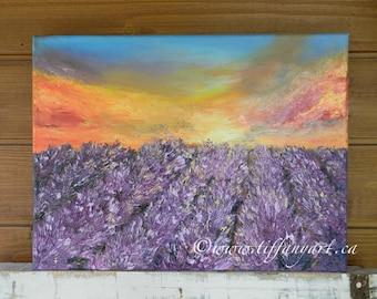 Lavender, Lavender fields, Lavender art,original oil painting,French Lavender,Lavender art,Lavender oil painting,oil textured art,canvas art